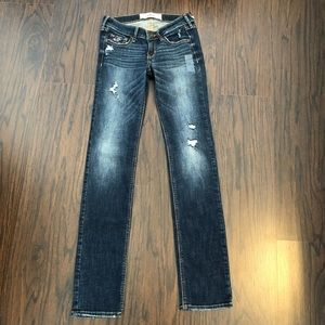 Hollister jeans skinny distressed size 0